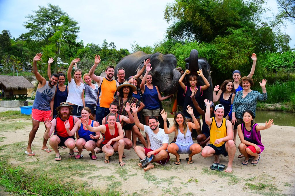 Corporate Team Building Elephant Care Program